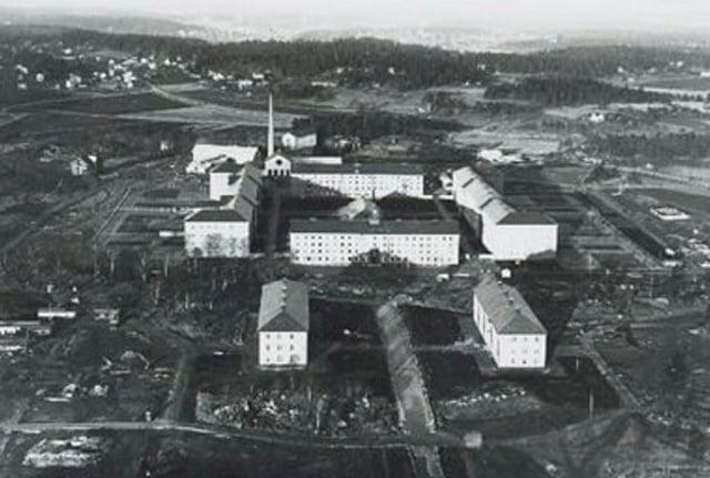 Flygfotografi av Beckomberga sjukhus vid invigningen 1932