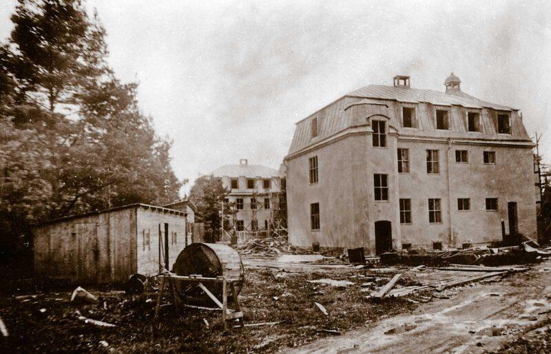 Sjukhusbyggnad under byggnation