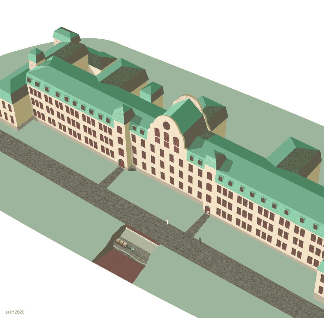 Kulvert långbro sjukhus